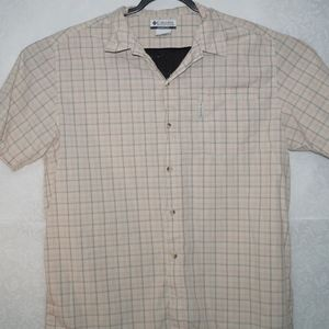 Columbia Mens Plaid Short Sleeve Shirt Size XL